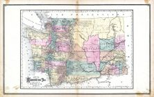 Washington Territory, United States 1885 Atlas of Central and Midwestern States